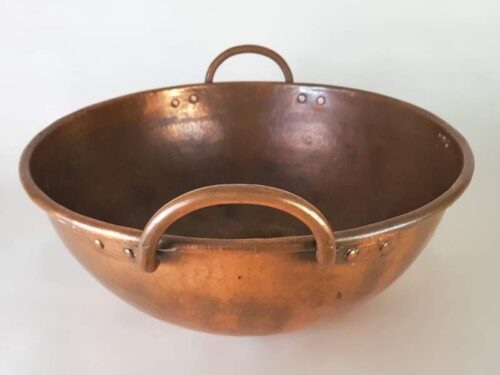 French Confectioner's Copper Mixing Bowl