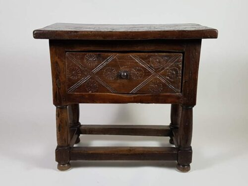 18th century French Oak Cabinet with drawer