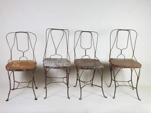 Sculptural iron hand forged chairs