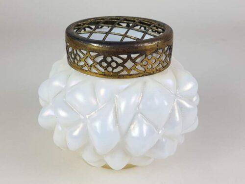 Loetz Iridescent White Pearl Art Glass Vase