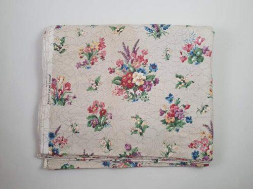 Linen Floral Fabric