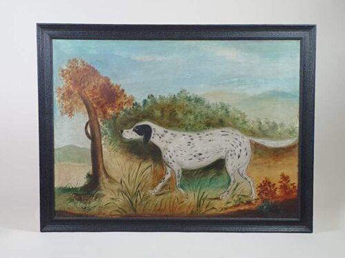 Naive Victorian Pointer Dog