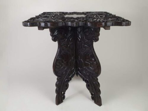 Anglo Indian  carved ebonised side table