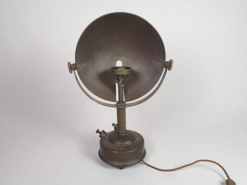 Brass German radiator heater converted into Table Lamp