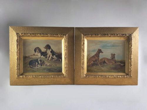 Pair of Dog Paintings