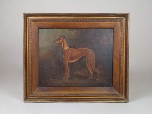 Greyhound oil on canvas, Herbert St John Jones