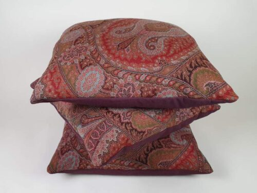 Victorian Paisley Wool Cushions