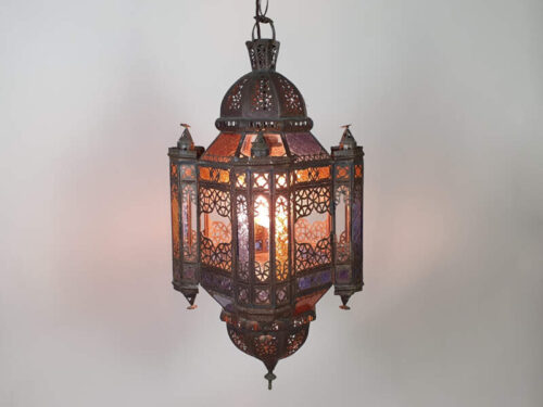 North African Stained Glass Ceiling Light