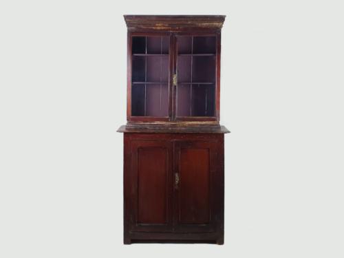 Irish Country House Glass Cupboard or Dresser