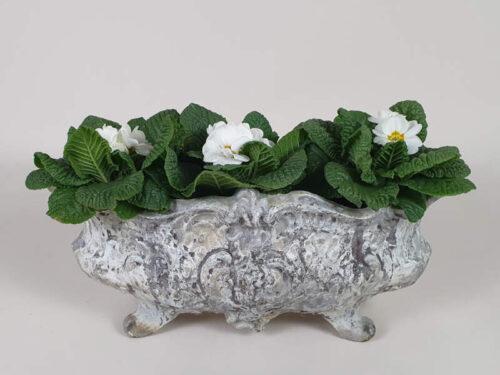 Decorative Cast Iron Jardiniere, Wonderful Patina