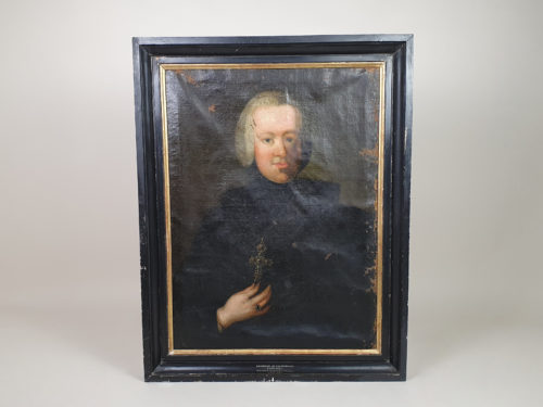 French oil on canvas Portrait, dating from late 1700s